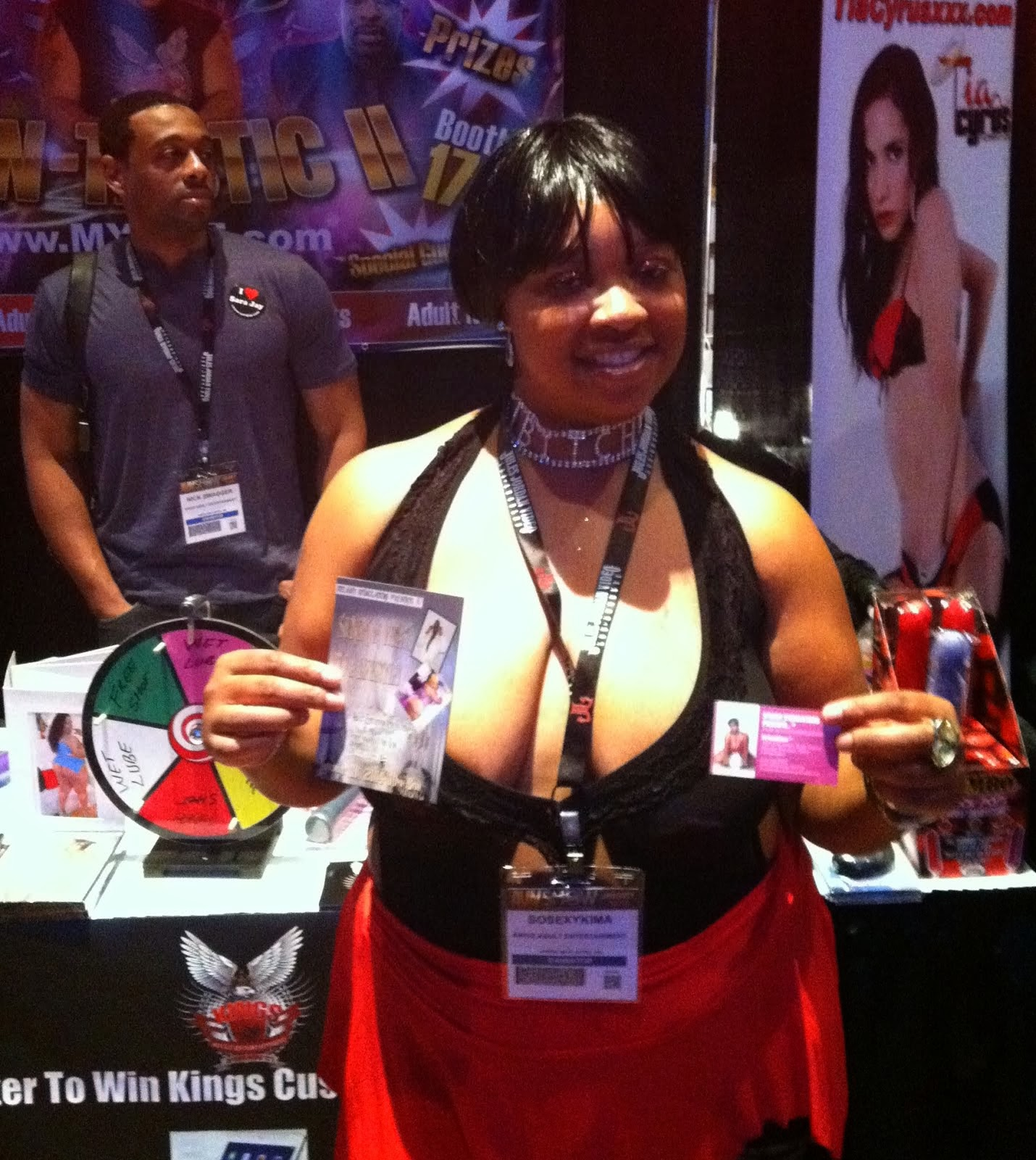 AT THE AVN EXPO LAS VEGAS 2014 KINGS ADULT ENTERTAINMENT BOOTH #1706