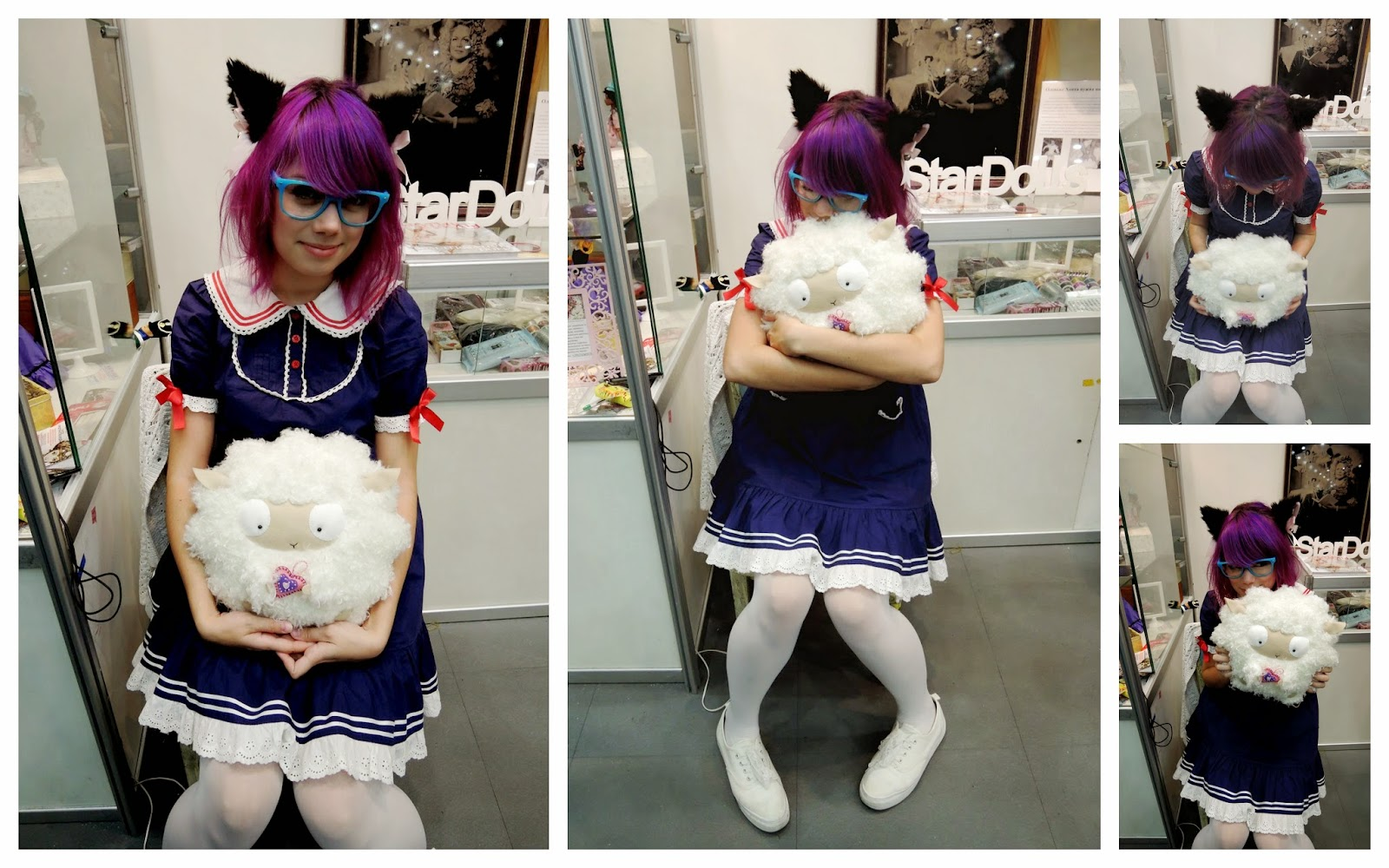 kawaii girl sheep