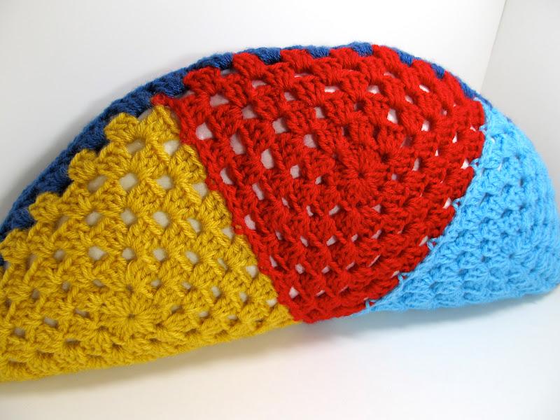 Granny Triangle Half Circle Pillow Tutorial