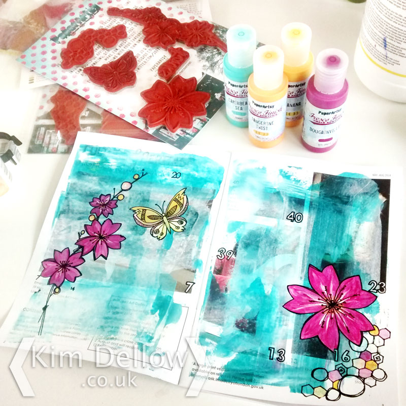 PaperArtsy paint and stamps