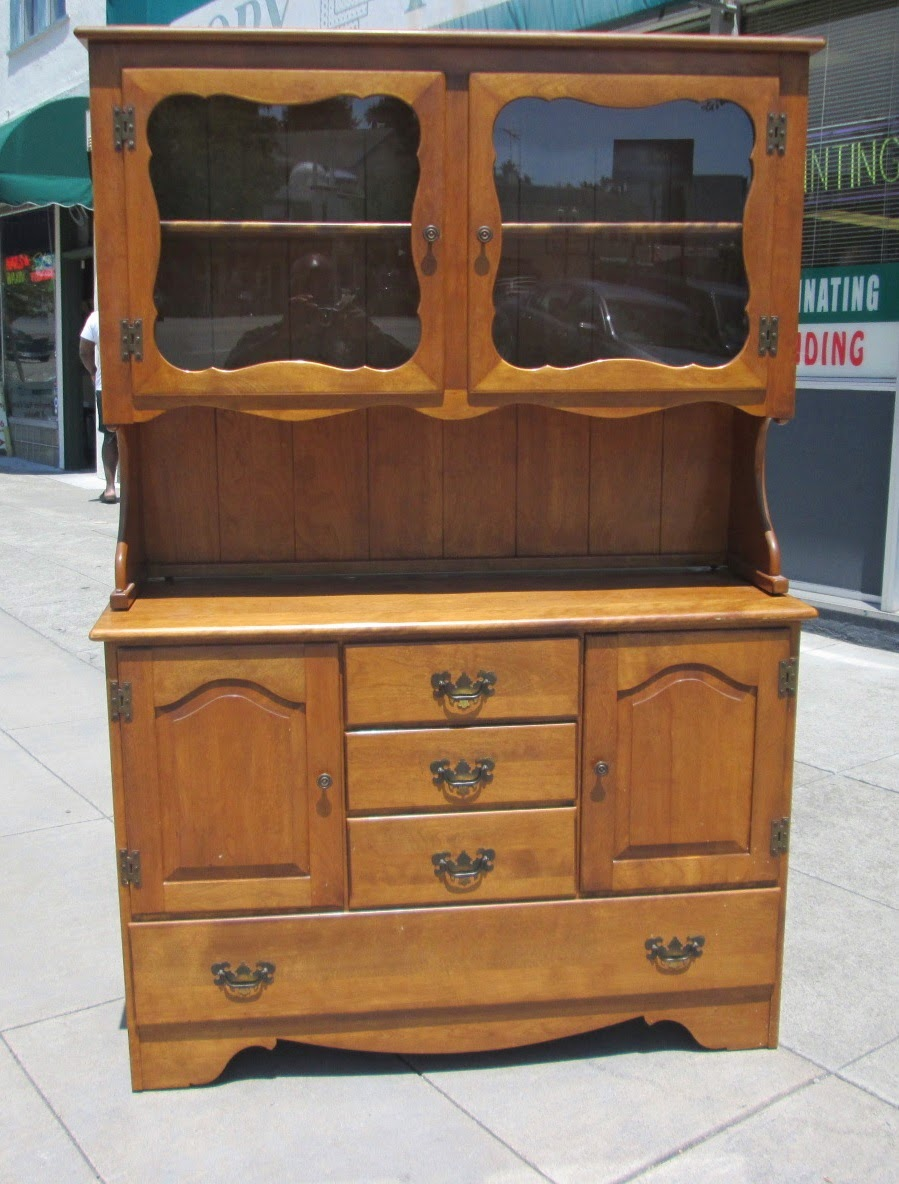 SOLD Maple Cal Shops Server With Hutch   $95