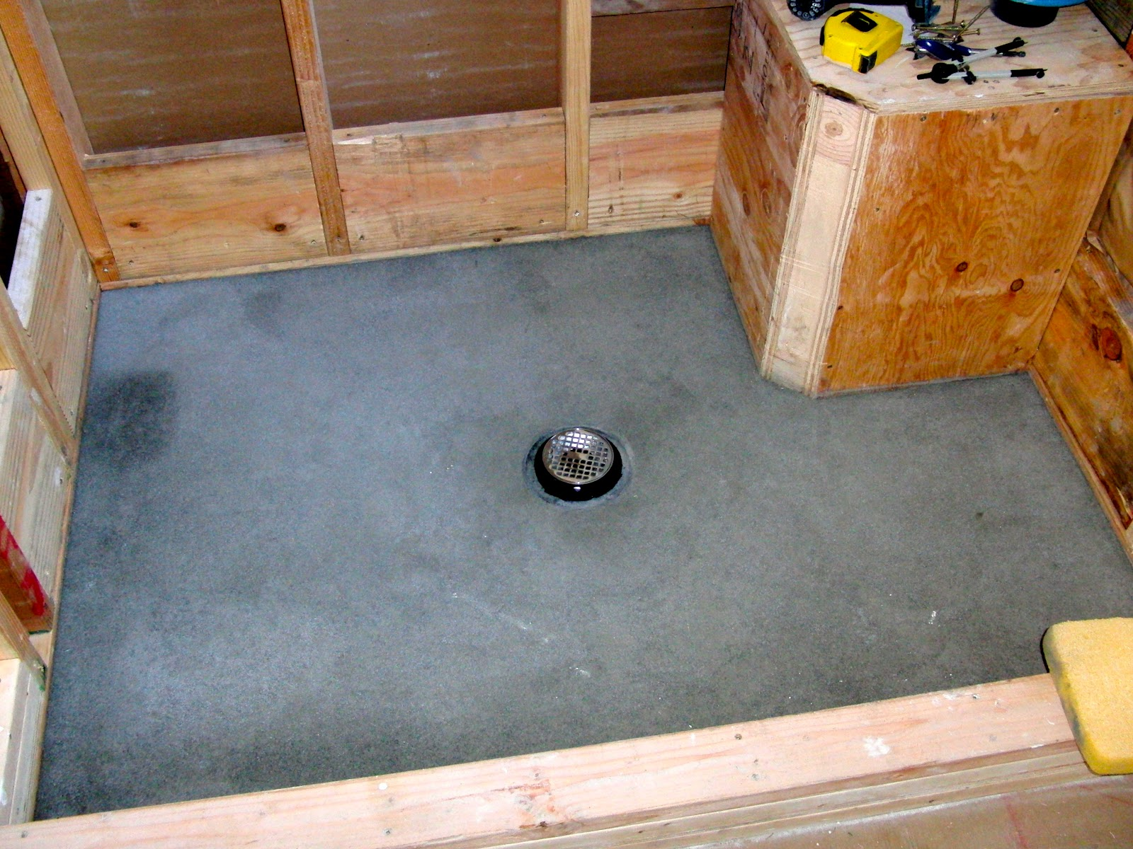 Building moms yurt a blog diy shower building and pebble tile solutioingenieria Image collections