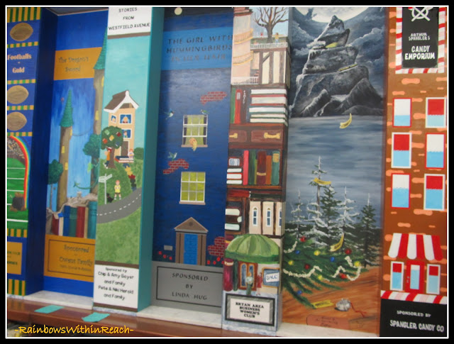 photo of: Painted Columns in Library as Fundraiser
