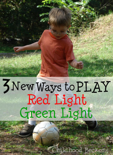 Play Red Light Green Light with a soccer ball
