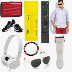 Buy Men's Clothing Min 50% off starts at  Rs.404, usb led lights Just at  Rs 129, Power Bank 10000 mAh Rs.899 etc : Buy to Earn