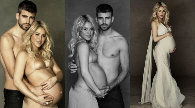 Shakira and Gerard Pique semi nude photo