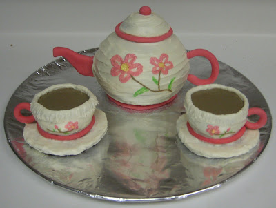 Tea Set Cake - Teapot and Teacups