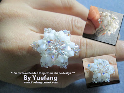 Snowflake_beaded_ring_dome_shape_design