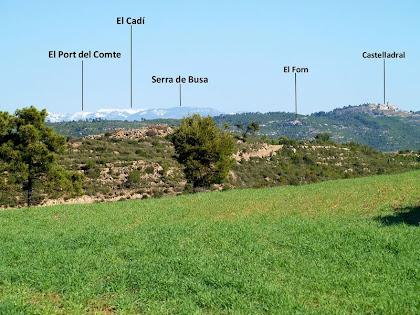 El Port del Comte i el Cadí des de la barraca de vinya nº 5