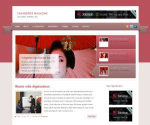 Casandres Magazine WordPress Theme