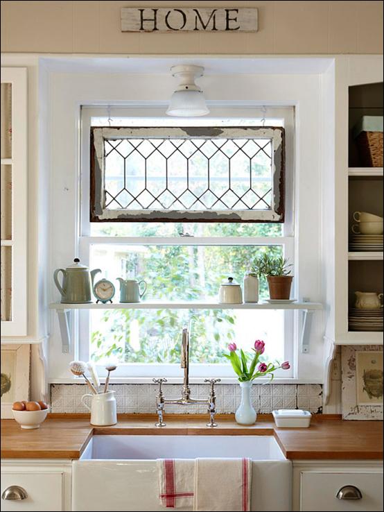 Cottage Kitchen Ideas Custom Of Kitchen Sink Window Shelf Photos
