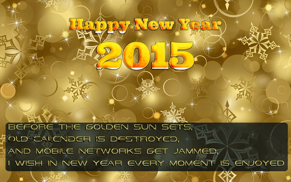 Christmas Stars Fall New Years Wishes Card 2015 Images