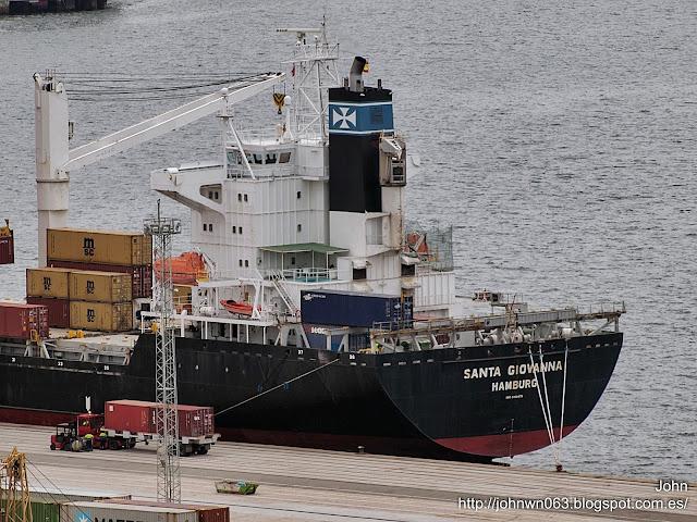 fotos de barcos, imagenes de barcos, santa giovanna, container ship, vigo