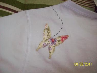 patchcolagem borboleta