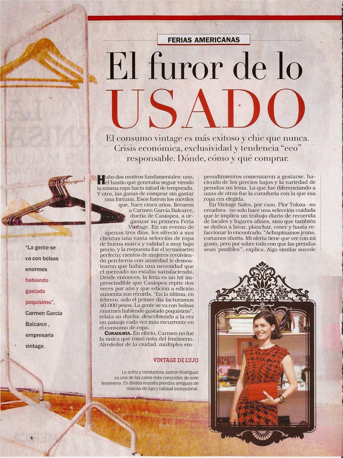 Nota en revista Noticias