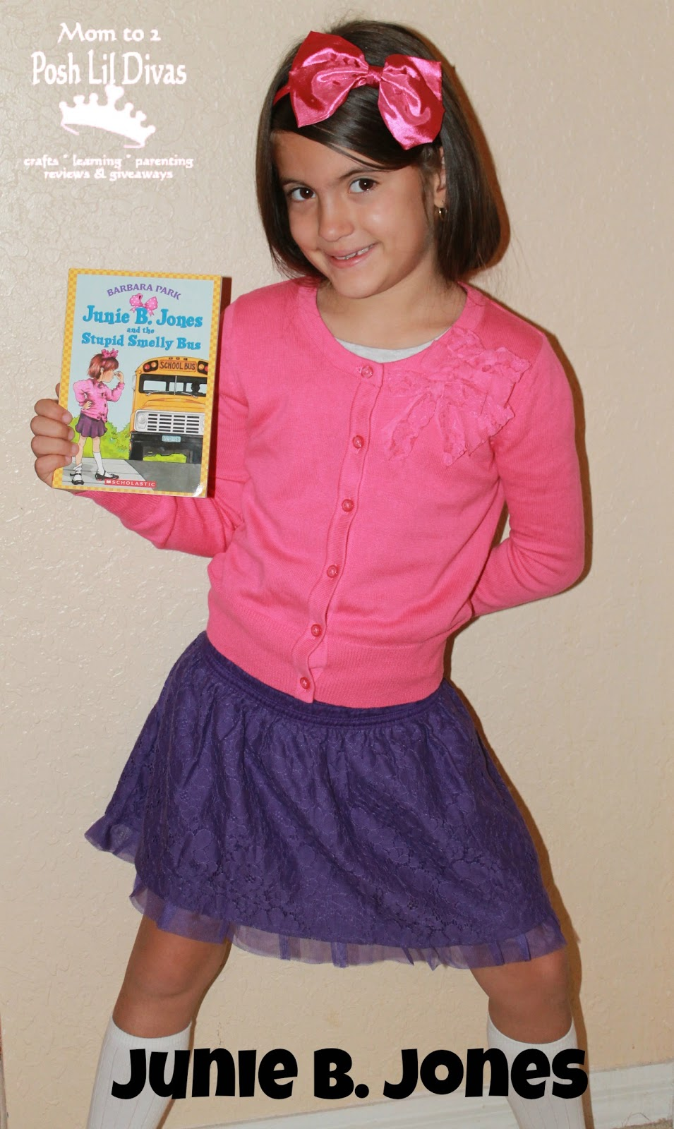 Junie B_ Jones Costume http://www.momto2poshlildivas.com/2012_10_01_archive.html