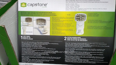 Capstone LED Wireless Motion Sensor Light 2 Pack – 16 super bright LEDs, easy installation