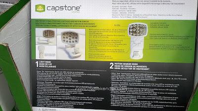 Capstone LED Wireless Motion Sensor Light 2 Pack – 16 super bright LEDs, easy installation