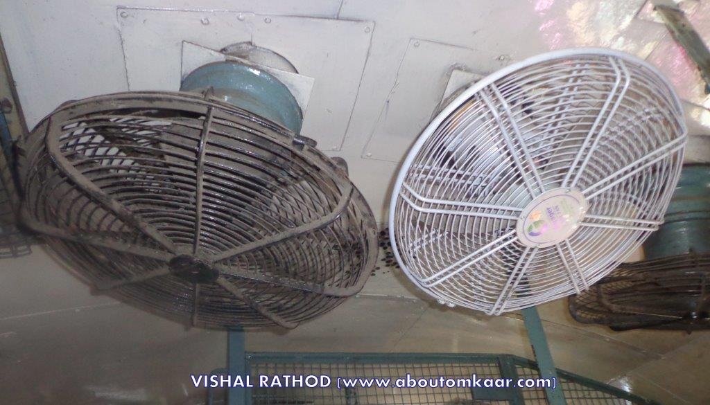 Fans in Compartment Travel India