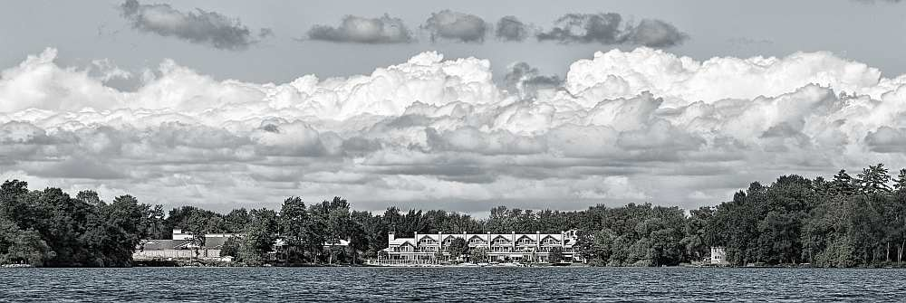Condominiums built at Invermara Bay, Orillia.