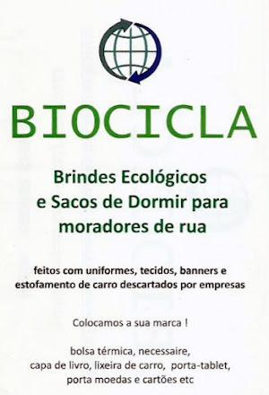 BIOCICLA | Brindes Ecologicos e Sacos de Dormir para Moradores de Rua