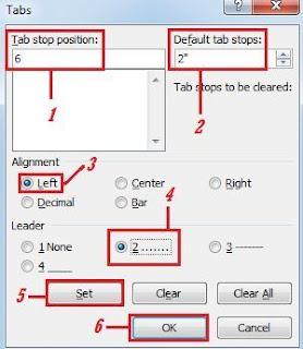 Pengaturan+Tabs Tutorial MS Word   Cara membuat Daftar Isi Yang Baik dan Benar