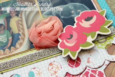 Chipboard Roses_Large Scallop_Silver Ribbon_Hydrangea Hippo