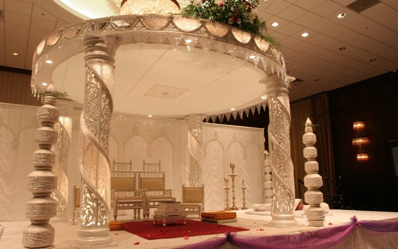 Modern Indoor Wedding Mandap 1