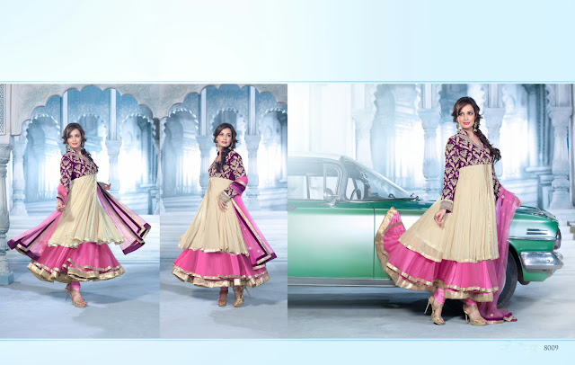 Bollywod Actress Diya Mirza Designer Anarkali Suit,Georgette Embroidery Anarkali Suit