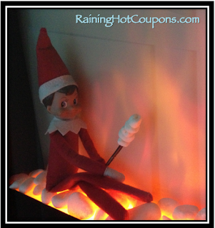 Making Smores Elf on the Shelf by Raining Hot Coupons