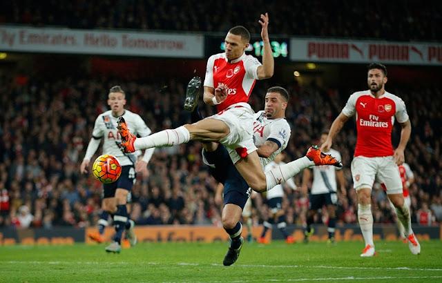 Hasil laga Arsenal 1-1 Tottenham Hotspur