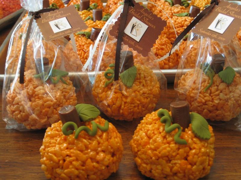 Faulkner s ranch pumpkin rice krispie treats