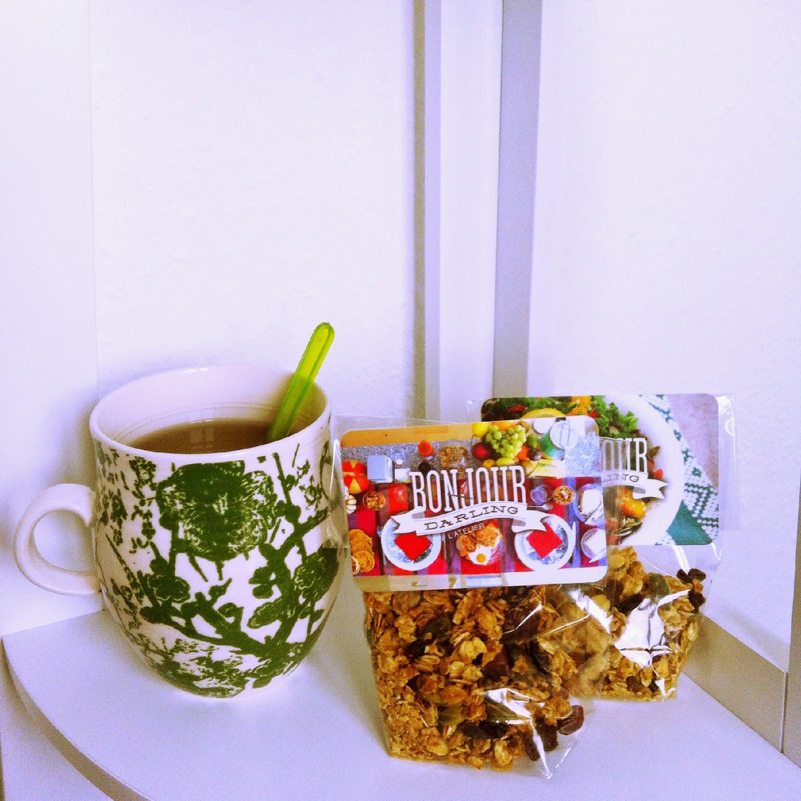 thé est Muesli made in Bonjour Darling