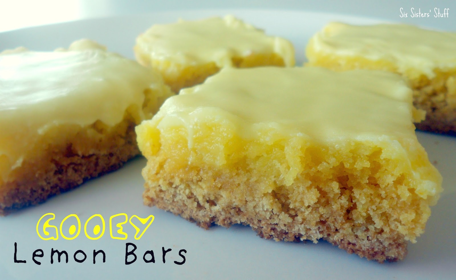 Gooey Lemon Bars Recipe | Six Sisters' Stuff