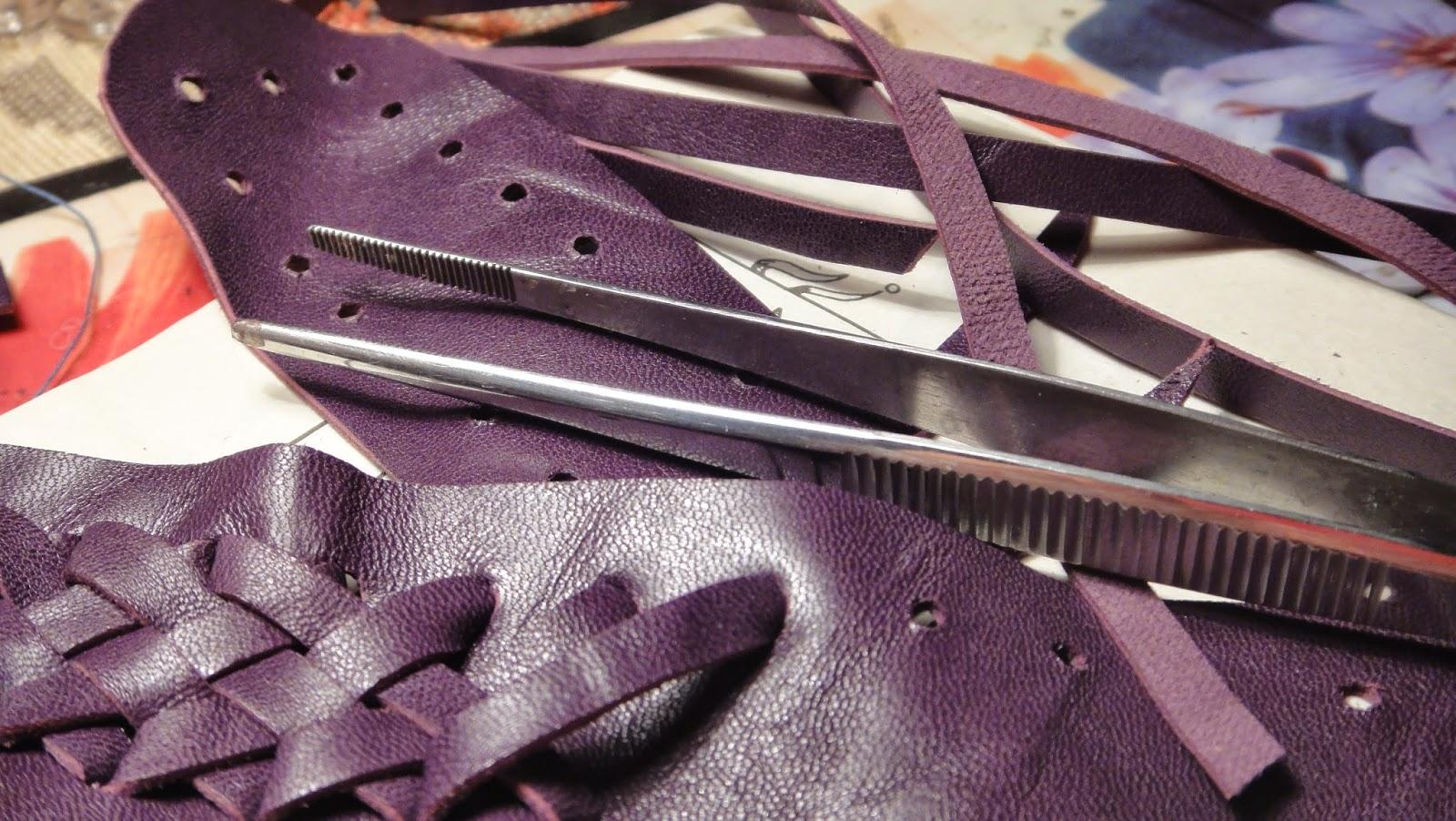 Плетение корешка для ежедневника - натуральная кожа