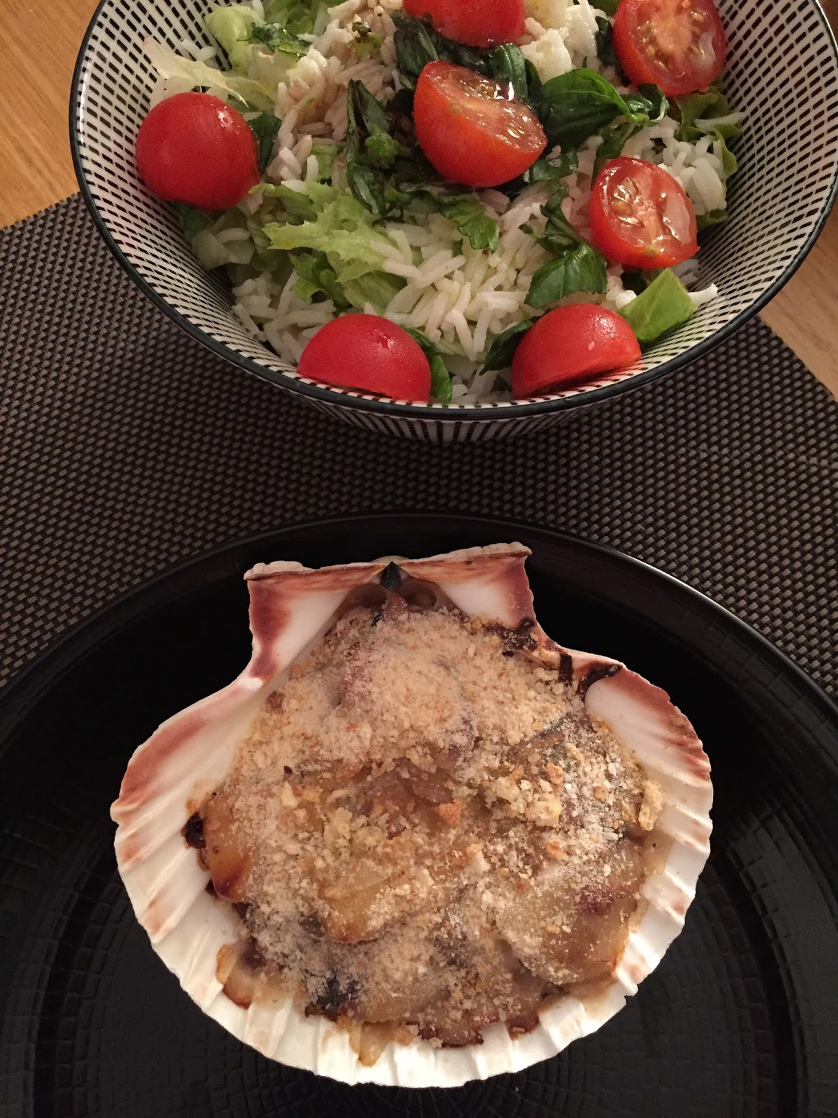 Mes petites cr ations culinaires coquilles saint jacques la bretonne - Coquille saint jacques bretonne champignons ...