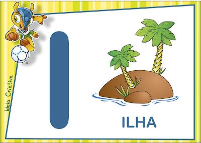 Alfabeto Copa do Mundo para imprimir Grátis