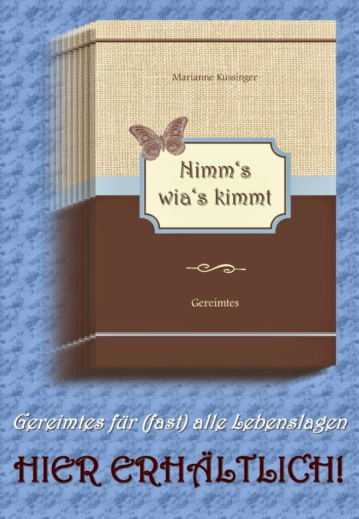 Plakat zum Gedichtband Nimm's wia's kimmt