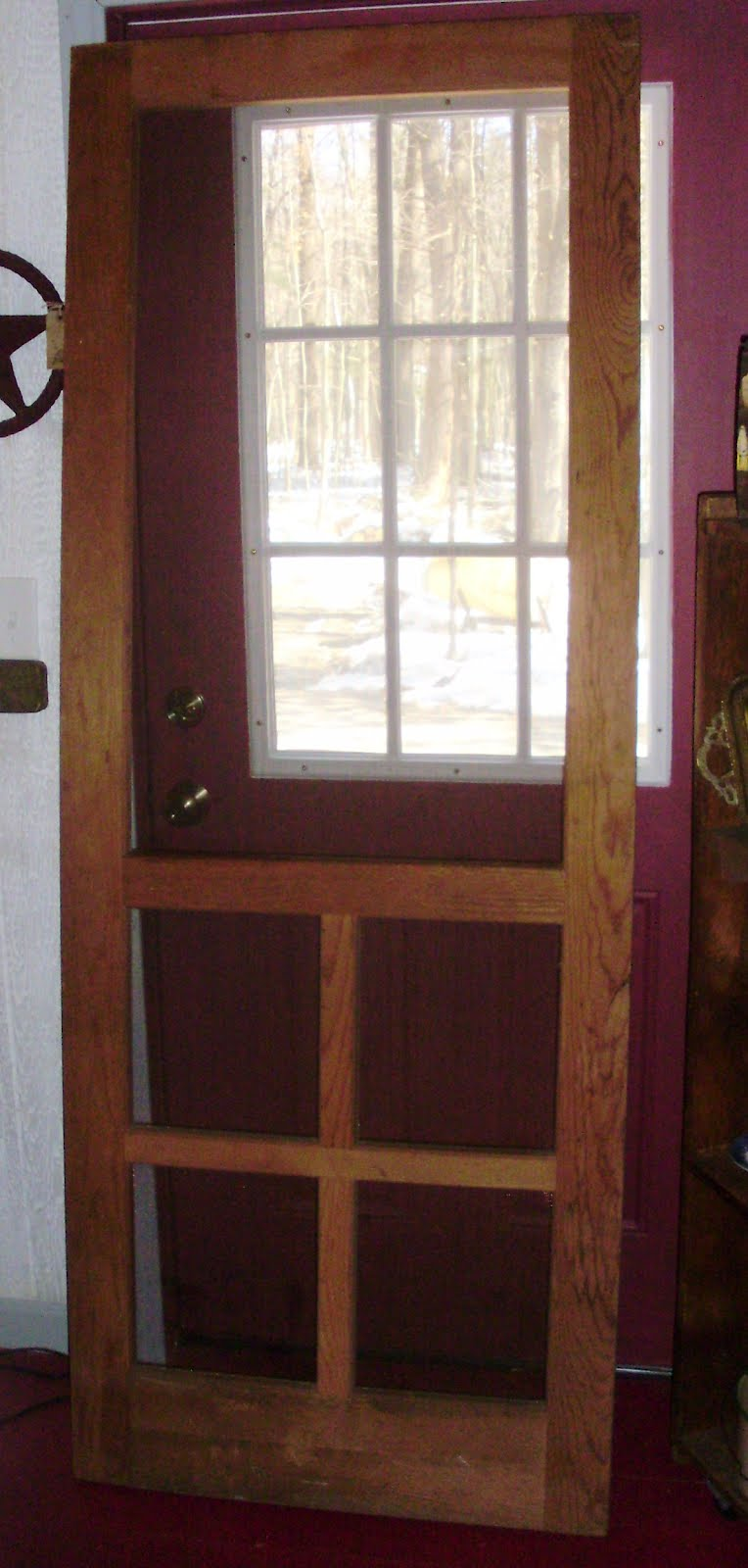Log Cabin Antiques Gifts Wooden Screen Door From Country Store In