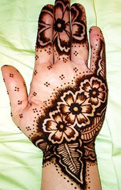Mehndi Flower For Hand : Arabic henna design pictures