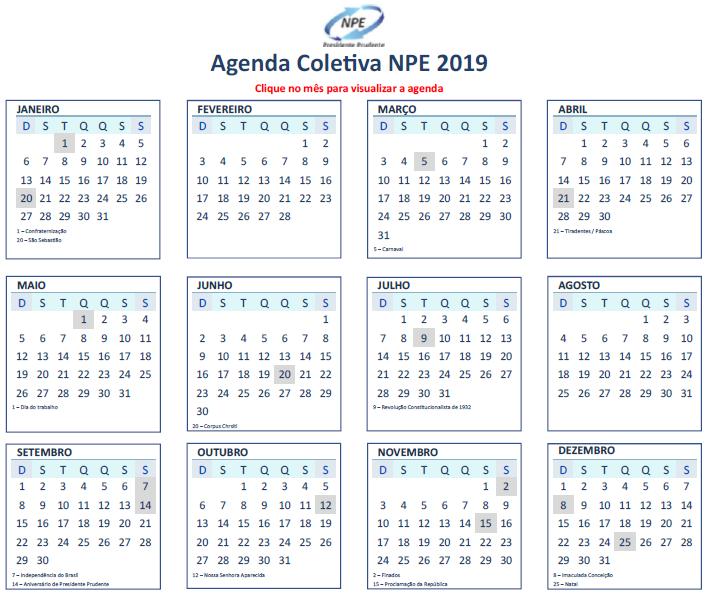 Agenda NPE 2019