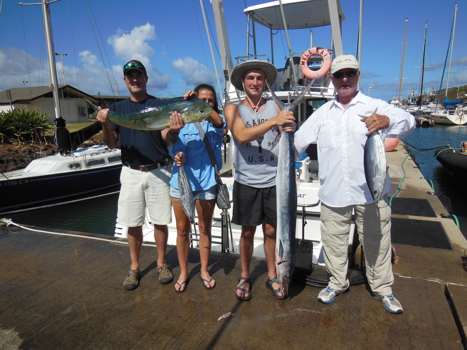 C lure fishing chaters kauai hawaii mele kai kauai for Kauai fishing report