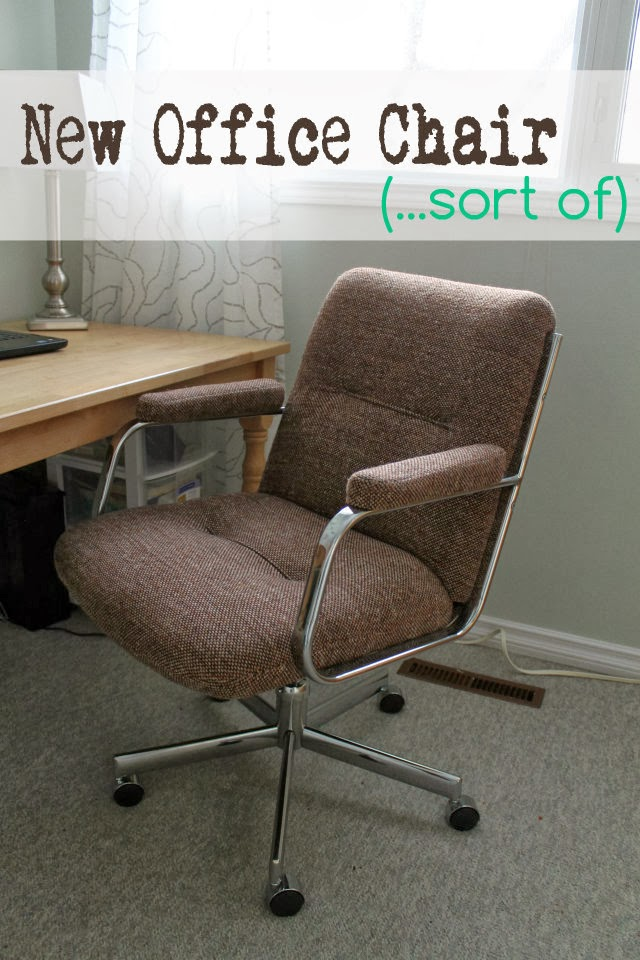 tweed swivel office chair