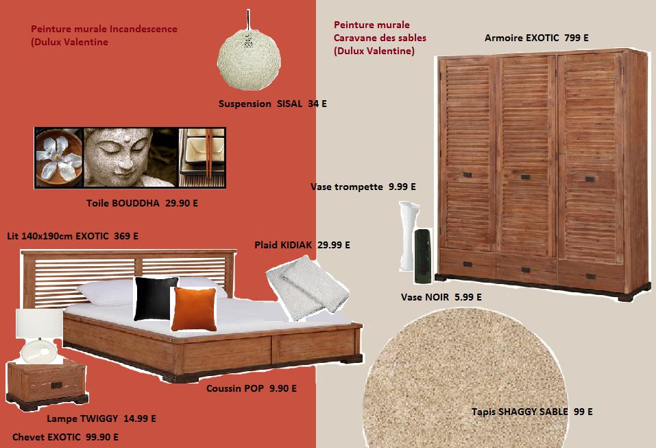 Couleur Beige Clair Salon : Chambre Exotique Conforama Buffet bas 2 portes tiroirs otawa coloris