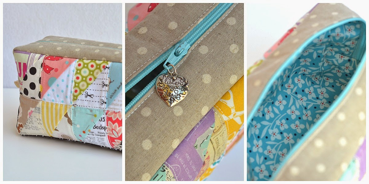 patchwork box pouch the sewing chick