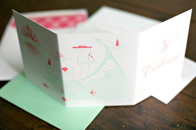 Custom Nantucket Wedding Map