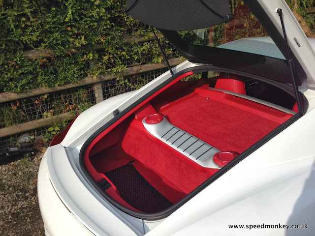 2013 Porsche Cayman rear storage space