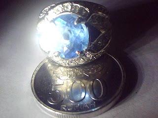 Batu Cincin Blue Topaz