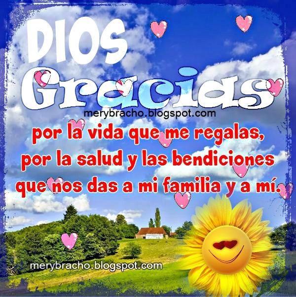 imagen gracias a Dios por familia salud feliz dia acción gracias