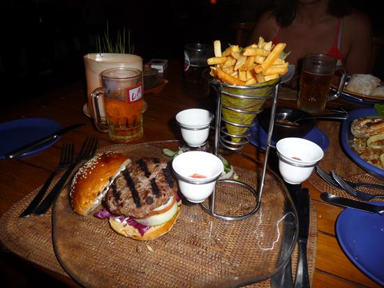 Hamburguesa en Lombok